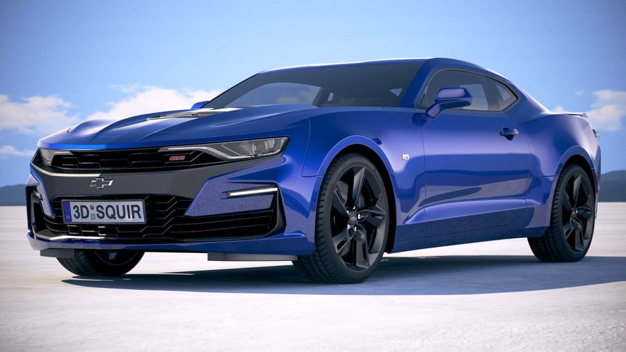 Chevrolet Camaro SS 2019 royalty-free 3d model - Preview no. 13