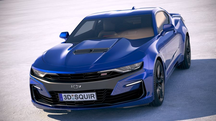 Chevrolet Camaro SS 2019 royalty-free 3d model - Preview no. 2