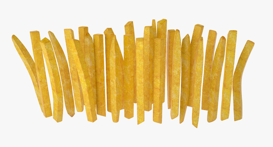 Pommes frites royalty-free 3d model - Preview no. 10