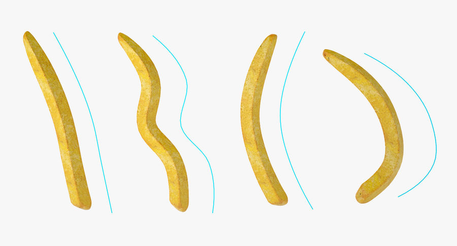 Pommes frites royalty-free 3d model - Preview no. 11