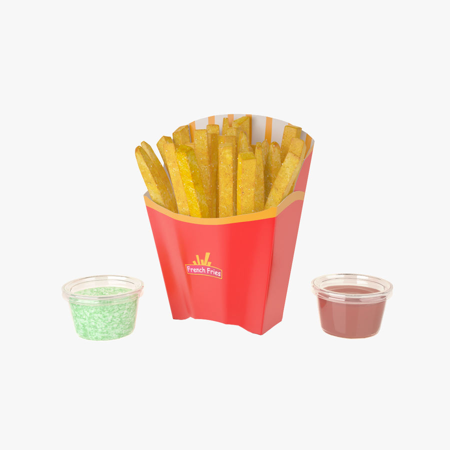 Pommes frites royalty-free 3d model - Preview no. 1