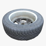 Dirty Tire 02 3d model