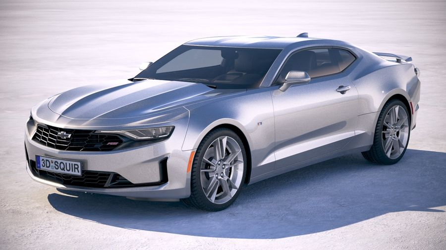 Chevrolet Camaro RS 2019 royalty-free 3d model - Preview no. 1