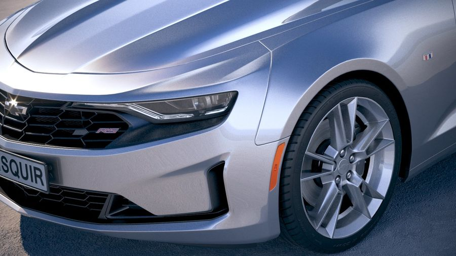 Chevrolet Camaro RS 2019 royalty-free 3d model - Preview no. 3
