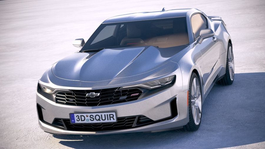 Chevrolet Camaro RS 2019 royalty-free 3d model - Preview no. 2
