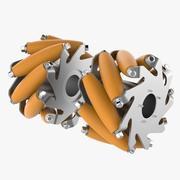 Aluminiowe koło Mecanum V2 3d model