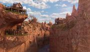 Fantasy High Town Landscape 3d model