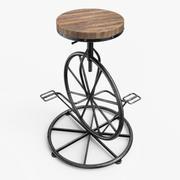 Stołek barowy na koło rowerowe 3d model
