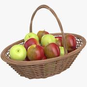사과 바구니 3d model