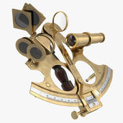 Instrument de navigation sextant 3d model