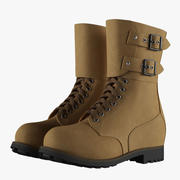 French Military Boots 02 3d model