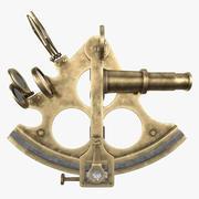 Sextant de navire en laiton antique 3d model