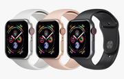 Apple Watch 4-serien Space Grey Aluminium Case med Sport Band 3d model