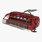 Combine Harvester Draper Header 3D Model 3d model