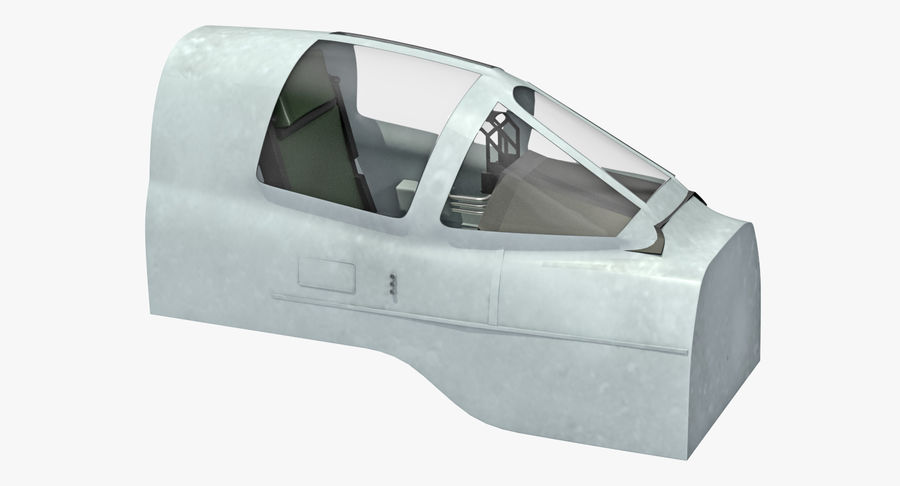Angriffsflugzeug Cockpit 3D-Modell royalty-free 3d model - Preview no. 3