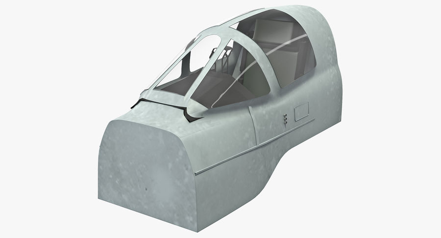 Angriffsflugzeug Cockpit 3D-Modell royalty-free 3d model - Preview no. 2