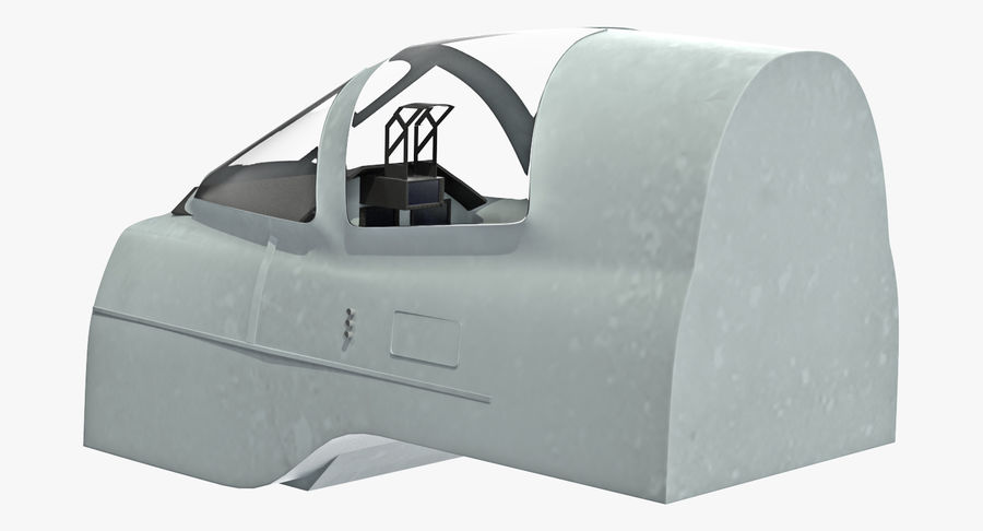 Angriffsflugzeug Cockpit 3D-Modell royalty-free 3d model - Preview no. 4