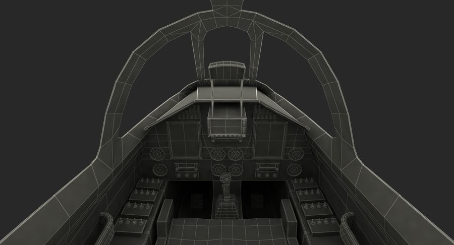 Angriffsflugzeug Cockpit 3D-Modell royalty-free 3d model - Preview no. 19