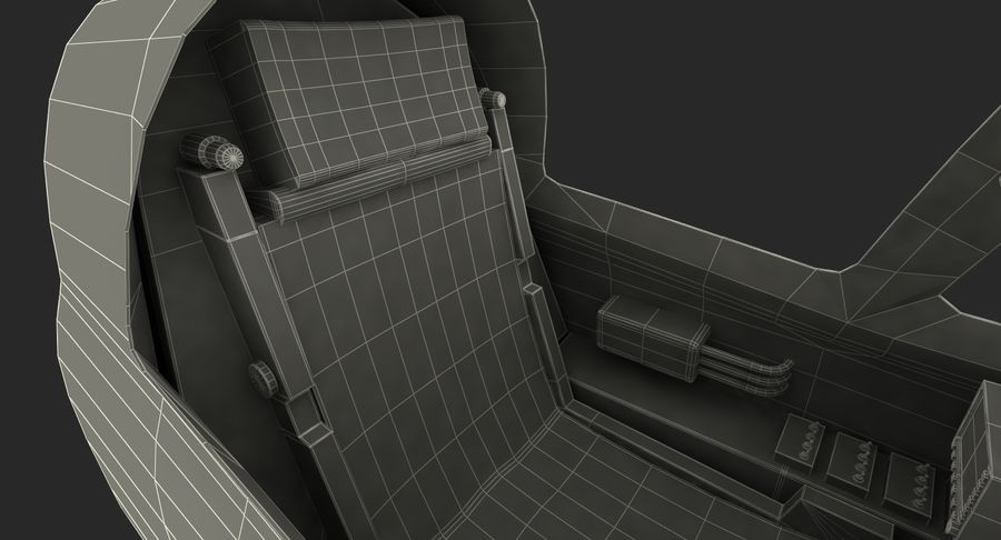 Angriffsflugzeug Cockpit 3D-Modell royalty-free 3d model - Preview no. 20