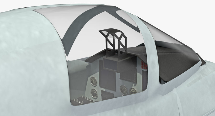 Angriffsflugzeug Cockpit 3D-Modell royalty-free 3d model - Preview no. 5