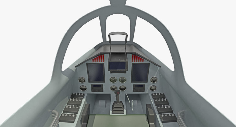 Angriffsflugzeug Cockpit 3D-Modell royalty-free 3d model - Preview no. 6