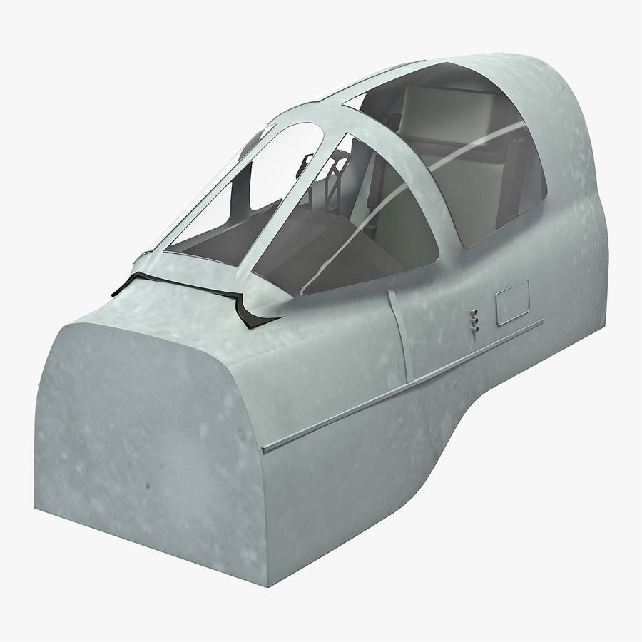 Angriffsflugzeug Cockpit 3D-Modell royalty-free 3d model - Preview no. 1