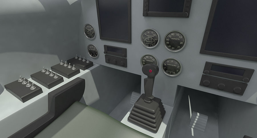 Angriffsflugzeug Cockpit 3D-Modell royalty-free 3d model - Preview no. 8