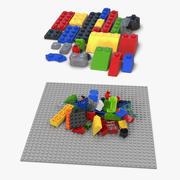 Lego Bricks 3D Models Collection 3d model
