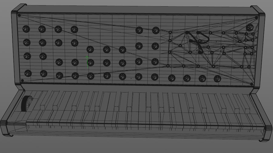 Mini Synthesizer royalty-free 3d model - Preview no. 4