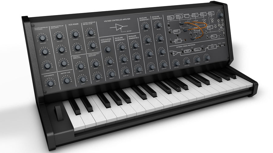 Mini Synthesizer royalty-free 3d model - Preview no. 1