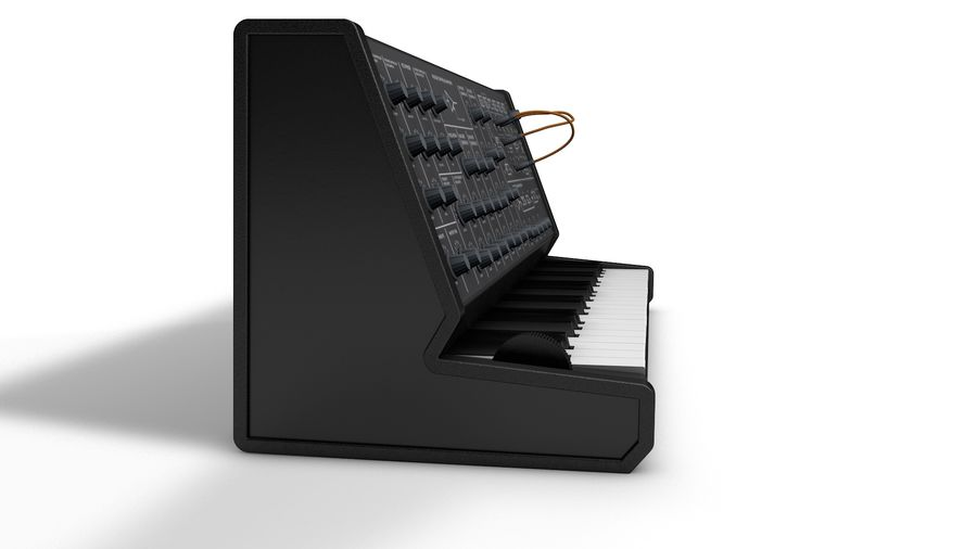 Mini Synthesizer royalty-free 3d model - Preview no. 3