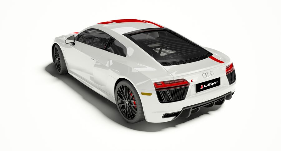 R8 Coupe 2018 royalty-free 3d model - Preview no. 3