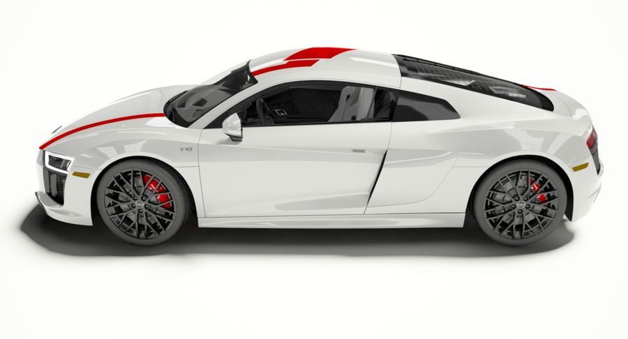 R8 Coupe 2018 royalty-free 3d model - Preview no. 2