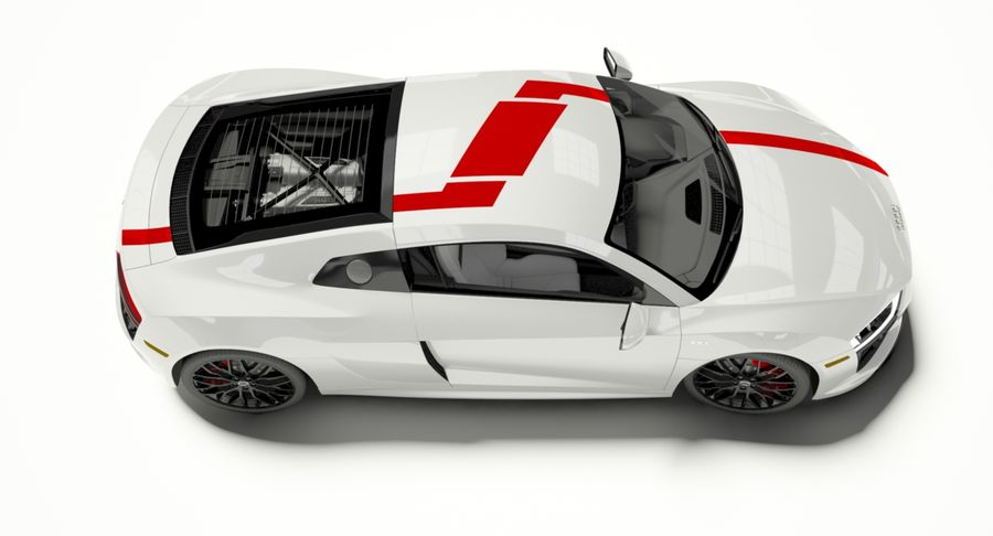 R8 Coupe 2018 royalty-free 3d model - Preview no. 5