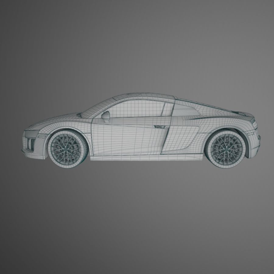 R8 Coupe 2018 royalty-free 3d model - Preview no. 9
