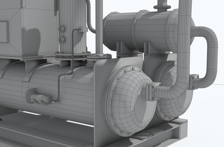 Industrial machines royalty-free 3d model - Preview no. 19