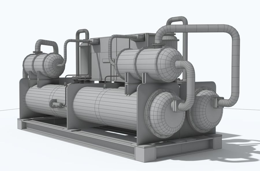 Industrial machines royalty-free 3d model - Preview no. 17