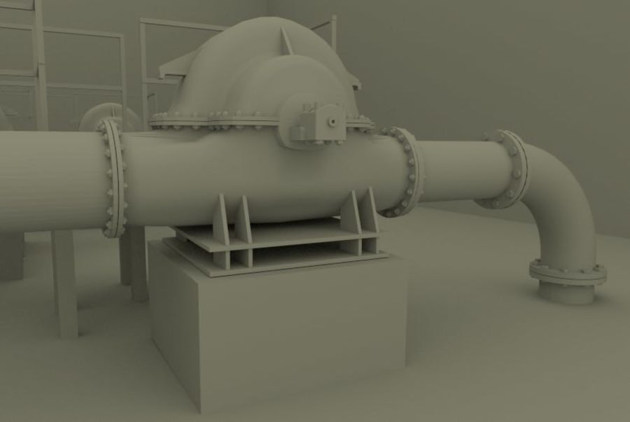 Industrial machines royalty-free 3d model - Preview no. 7