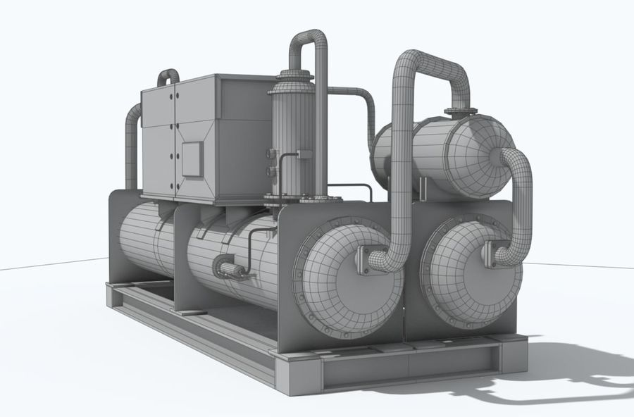 Industrial machines royalty-free 3d model - Preview no. 16