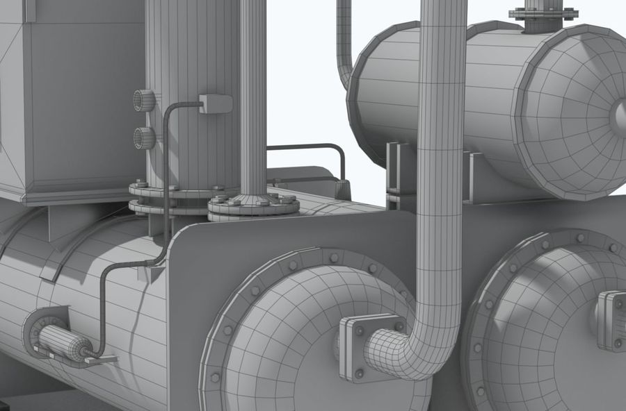 Industrial machines royalty-free 3d model - Preview no. 20