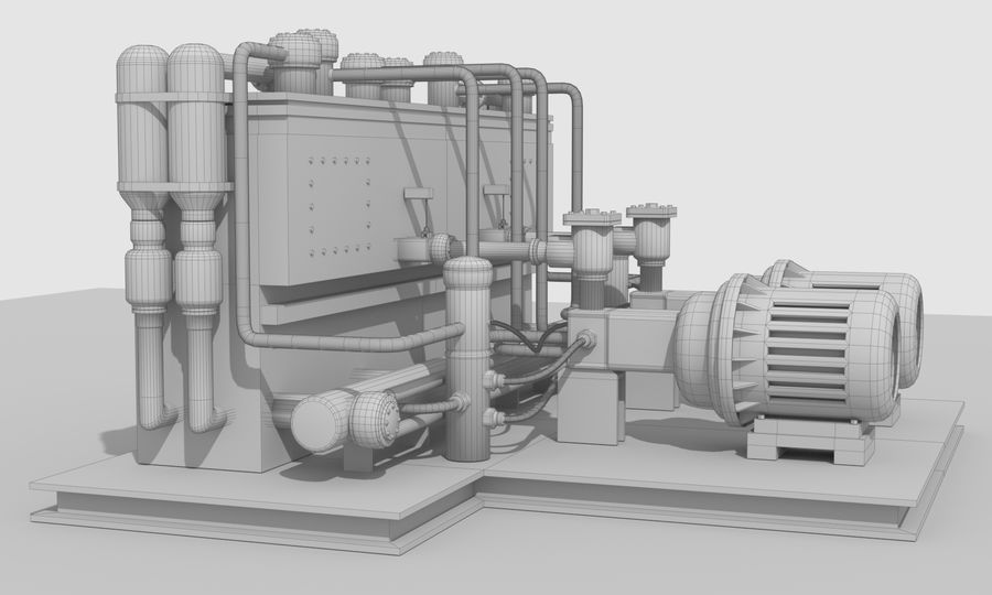 Industrial machines royalty-free 3d model - Preview no. 26