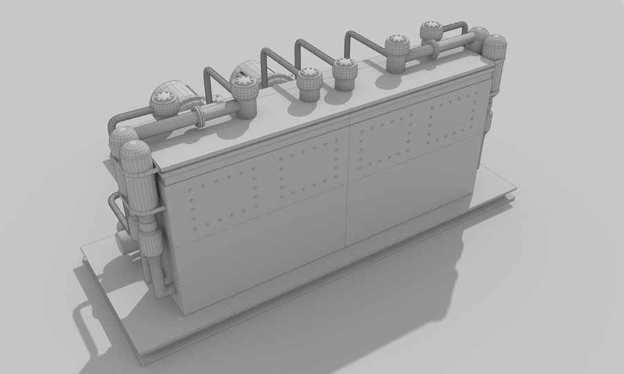 Industrial machines royalty-free 3d model - Preview no. 27