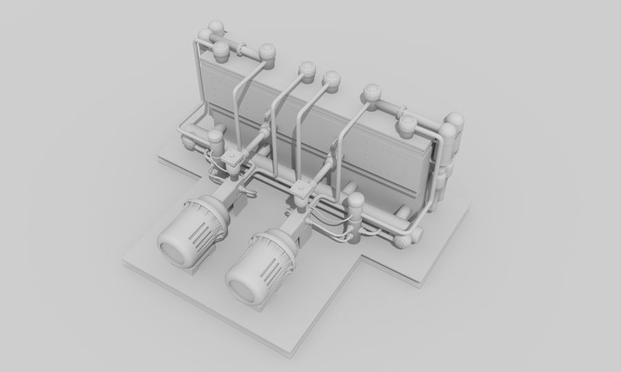 Industrial machines royalty-free 3d model - Preview no. 21