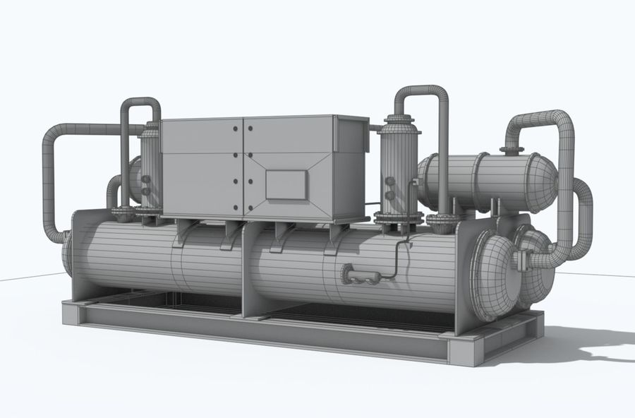 Industrial machines royalty-free 3d model - Preview no. 14
