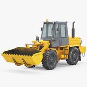 Retro escavadeira 3d model