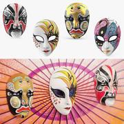 Asian Masks 3D Models Collection 3d model