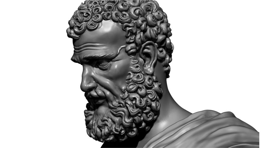 Saint Peter Head Bust royalty-free 3d model - Preview no. 20