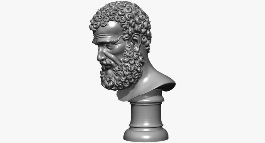 Saint Peter Head Bust royalty-free 3d model - Preview no. 18