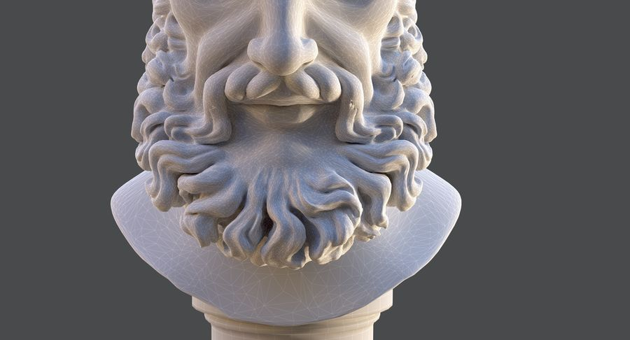 Saint Peter Head Bust royalty-free 3d model - Preview no. 13