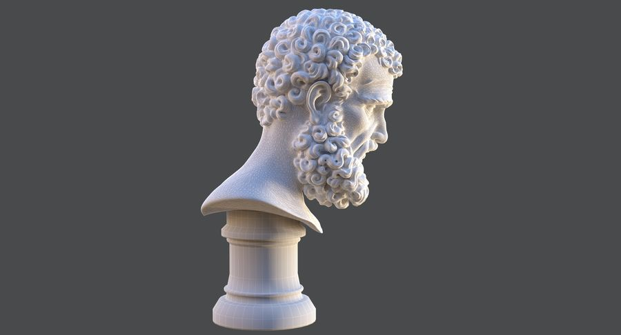 Saint Peter Head Bust royalty-free 3d model - Preview no. 15